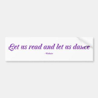 Autocollant De Voiture Lisons et dansons