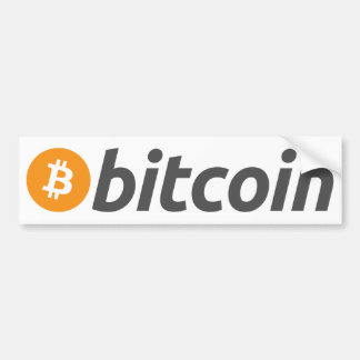 Autocollant De Voiture Logo de Bitcoin + texte