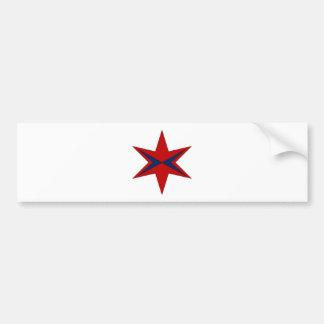 Autocollant De Voiture Logo moderne de capitaine Chicago