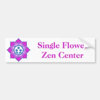 Autocollant De Voiture Logo simple de centre de zen de fleur