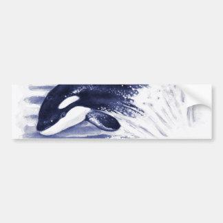 Autocollant De Voiture L'orque de bébé sautent