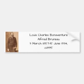 Autocollant De Voiture Louis Charles Bonaventure Alfred Bruneau