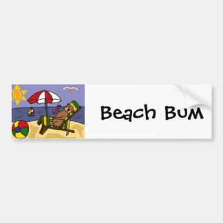 Autocollant De Voiture Loutre de mer drôle à la plage
