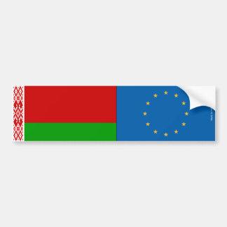 Autocollant De Voiture L'Union biélorusse et européenne marque l'adhésif