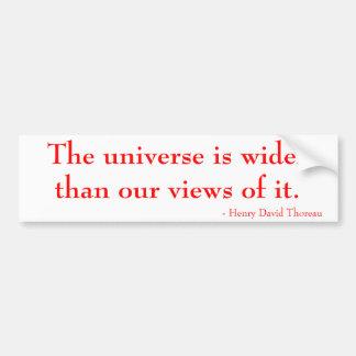 Autocollant De Voiture L'univers est plus large que nos vues de lui