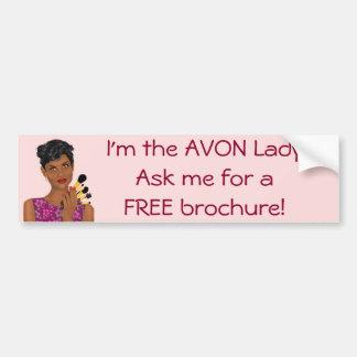 Autocollant De Voiture Madame d'Avon, modèle de beauté, Afro-américain
