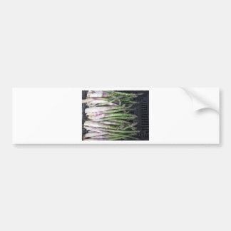 Autocollant De Voiture Main fraîche d'asperge sélectionnée du jardin