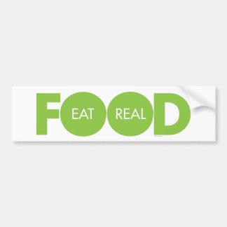 Autocollant De Voiture Mangez de la vraie nourriture