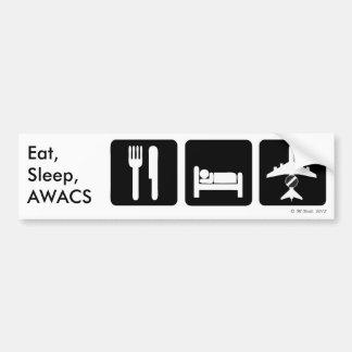 Autocollant De Voiture Mangez, dormez, adhésif pour pare-chocs de système