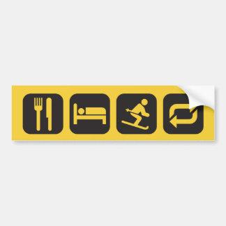 Autocollant De Voiture Mangez la répétition de ski de sommeil (le