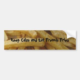 Autocollant De Voiture Mangez l'adhésif pour pare-chocs de pommes frites