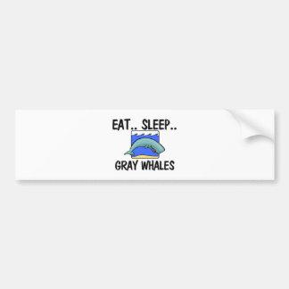 Autocollant De Voiture Mangez les BALEINES GRISES de sommeil