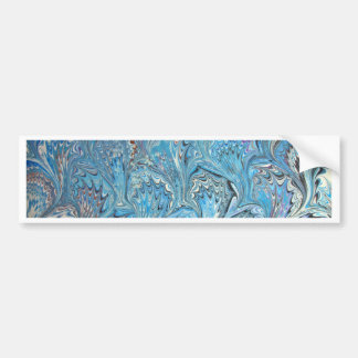 Autocollant De Voiture Marbrure bleue de l'eau de pieds de grenouille