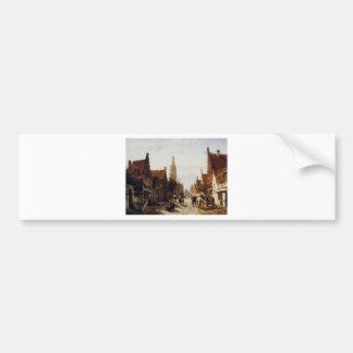 Autocollant De Voiture Marché Oudewater par Cornelis Springer