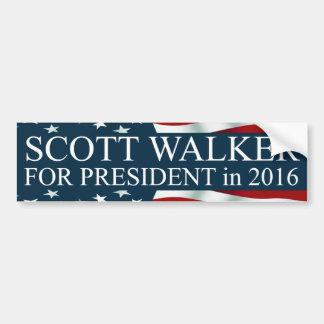Autocollant De Voiture Marcheur de Scott pour le président en 2016