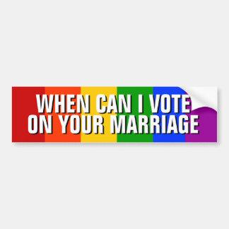 AUTOCOLLANT DE VOITURE MARIAGE HOMOSEXUEL