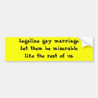Autocollant De Voiture Mariage homosexuel de Legaliza
