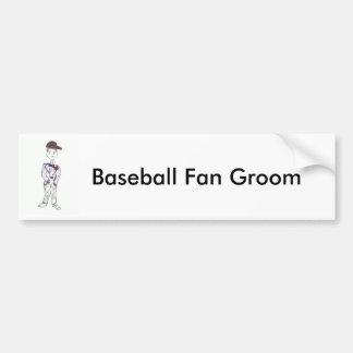 Autocollant De Voiture Marié noir de casquette de baseball