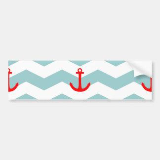 Autocollant De Voiture Marin ou motif nautique sur la bande blanche et