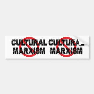 Autocollant De Voiture Marxisme culturel d'interdiction