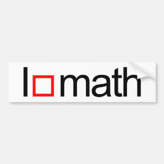 Autocollant De Voiture Maths du coeur I
