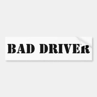 Autocollant De Voiture Mauvais adhésif pour pare-chocs de conducteur
