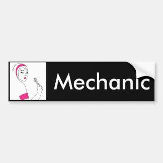 Autocollant De Voiture Mécanicien de femelle de réparation de véhicule