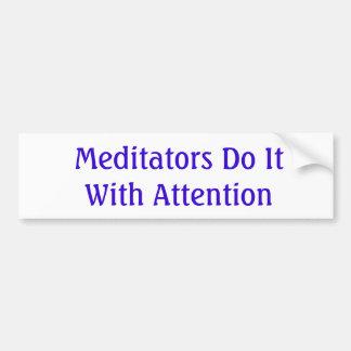 Autocollant De Voiture Méditation