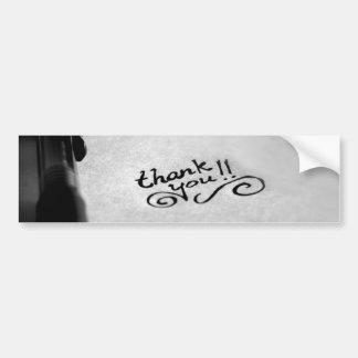 Autocollant De Voiture Merci manuscrit