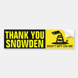 Autocollant De Voiture Merci Snowden