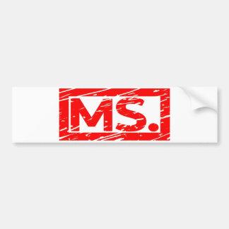 Autocollant De Voiture Mme Stamp
