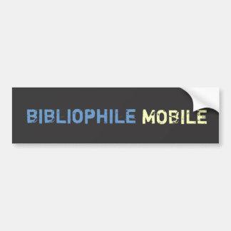 Autocollant De Voiture Mobile de bibliophile - bleu et jaune sur la