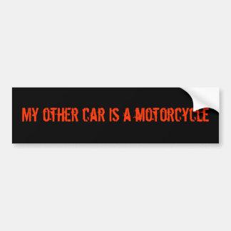 Autocollant De Voiture Mon autre voiture est un adhésif pour pare-chocs d