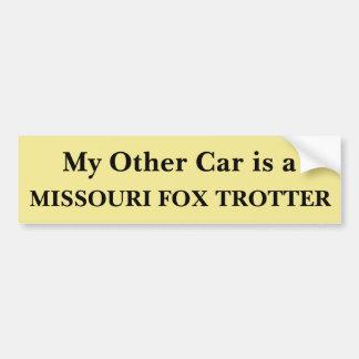 Autocollant De Voiture Mon autre voiture est un trotteur de Fox du