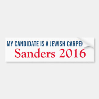 Autocollant De Voiture Mon candidat est un charpentier juif