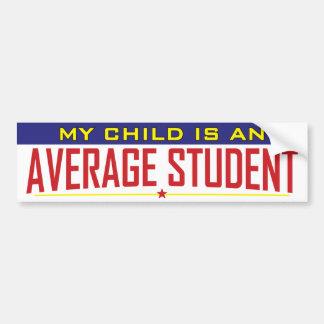 Autocollant De Voiture Mon enfant est un étudiant moyen