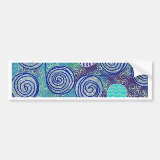 Autocollant De Voiture Motif africain bleu de cire de colorant de cravate