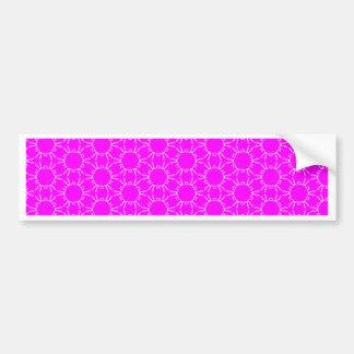 Autocollant De Voiture Motif rose et blanc au néon