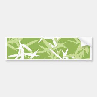 Autocollant De Voiture Motif unique de feuille en bambou vert