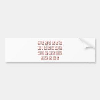 Autocollant De Voiture Mots d'alphabet