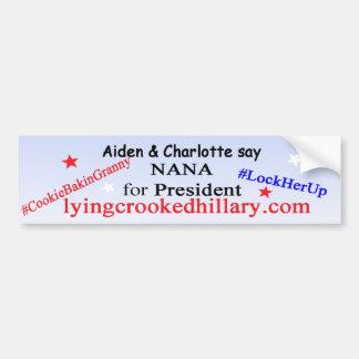Autocollant De Voiture Nana pour le président 2016