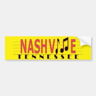Autocollant De Voiture Nashville - vivent la musique !