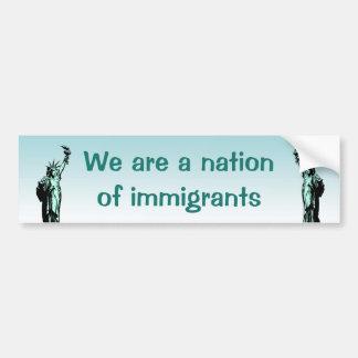 Autocollant De Voiture Nation d'adhésif pour pare-chocs d'immigrés