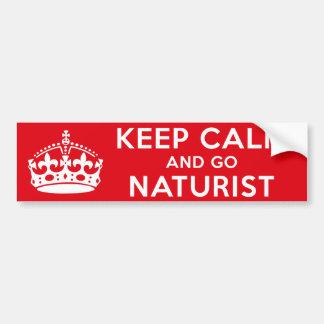 Autocollant De Voiture Naturiste/nudiste