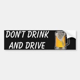 Autocollant De Voiture Ne buvez pas et ne conduisez pas