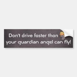 Autocollant De Voiture Ne conduisez pas plus rapidement que l'ange