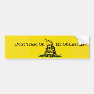 Autocollant De Voiture Ne marchez pas sur mon Obamacare bumpersticker.