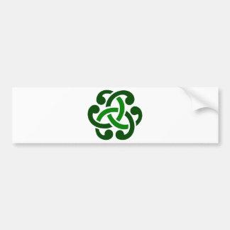 Autocollant De Voiture Noeud celtique vert-foncé