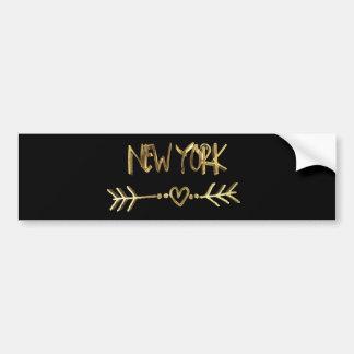 Autocollant De Voiture Noir des Etats-Unis d'amour de New York et