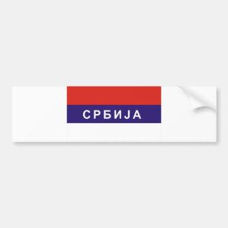 Autocollant De Voiture nom cyrillique russe des textes de pays de drapeau